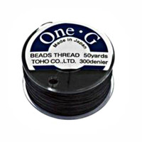 Toho One-G Beading Thread Black, 50 Yard spool