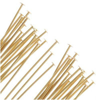 UnCommon Artistry®  22k Gold Plated Head Pins 21 Ga. 2 Inch (50)