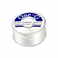 Toho One-G Beading Thread White, 50 Yard spool
