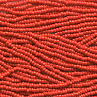 Czech Seed Beads Light Red Opaque 11/0  (Half Hank)