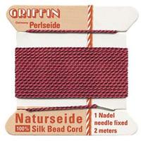 Griffin Silk Beading Cord & Needle Size 8 Garnet
