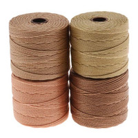 Super-Lon Cord - Warm Neutrals Mix - Four 77 Yard Spools /Size 18 Cord