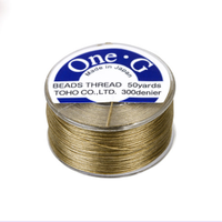 Toho One-G Beading Thread Sand Ash, 50 Yard spool