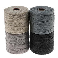 Super-Lon Cord - Cool Neutrals Mix - Four 77 Yard Spools /Size 18 Cord