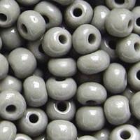 Czech Seed Beads 6/0 Gray Opaque (1 ounce)