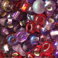 UnCommon Artistry Czech Seed Beads 6/0 Very Berry Berry Mix (1 Ounce)