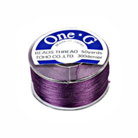 Toho One-G Beading Thread Purple, 50 Yard spool