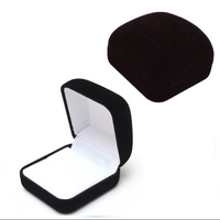 Black Velveteen and White Satin Earring Box