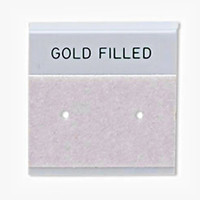 Gray Velour-Flocked Plastic Hanging Earring Card (Gold Filled)  (25 pcs)