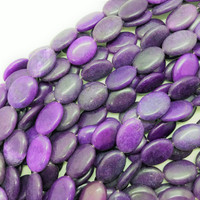 "Grape Purple Magnesite 25mm Oval Beads (16"" Strand)"