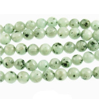 "Kiwi Sesame Jasper 8mm Smooth Round Beads (16"" Strand)"