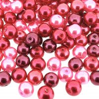 UnCommon Artistry Glass Pearl Mix 100pcs 8mm - Pink Fusion Mix