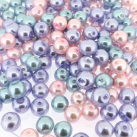 UnCommon Artistry  Glass Pearl Mix 100pcs 8mm - Princess Mix