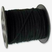 UnCommon Artistry Bulk Roll Faux Leather Suede Beading Cord, Black (100 yards)