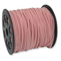 Bulk Roll Faux Leather Suede Beading Cord, Camelia Pink (300 feet/100 yards)