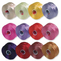 S-Lon Beading Thread Mixture 12 Colors Size D -Flowers Mix