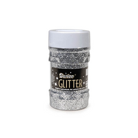 Darice Glitter Jar - Silver - Big Value - 4 ounces