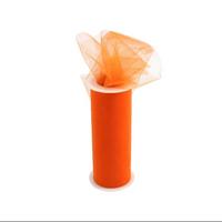 Tulle Fabric Spool/Roll 6-Inch X 25 yards (75-Feet) Orange