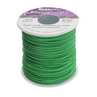 Knot It Rattail Satin Cord 1mm 72 Yard Spool- Emerald