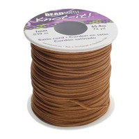 Knot It Rattail Satin Cord 1mm 72 Yard Spool- Luggage Brown