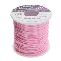 Knot It Rattail Satin Cord 1mm 72 Yard Spool- Light Pink