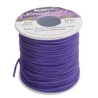 Knot It Rattail Satin Cord 1mm 72 Yard Spool- Purple