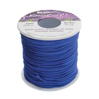 Knot It Rattail Satin Cord 1mm 72 Yard Spool- Royal Blue