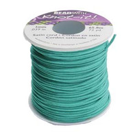 Knot It Rattail Satin Cord 1mm 72 Yard Spool- Turquoise