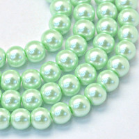UnCommon Artistry Glass Pearl Beads 200pcs 6mm - Mint Green