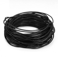 Bulk Package Genuine Black Leather Cord Round 2mm Diameter (100 meters)