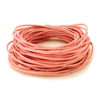 Bulk Package Genuine Flamingo Pink Leather Cord Round 2mm Diameter (100 meters)