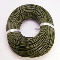 Bulk Package Genuine Camo Brown/Olive Green Leather Cord Round 2mm Diameter (100 meters)