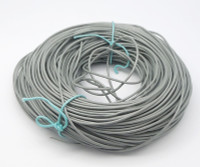 Bulk Package Genuine  Light Gray Leather Cord Round 2mm Diameter (100 meters)