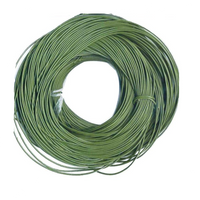 Bulk Package Genuine  Sage Green Leather Cord Round 2mm Diameter (100 meters)