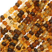 Czech Seed Beads 11/0 Clear Tortoise Mix (1 Hank)