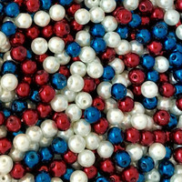 UnCommon Artistry  Glass Pearl Mix 200pcs 6mm - Patriot Mix