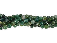 UnCommon Artistry Genuine Moss Agate Faceted Gemstone Beads 4mm Round