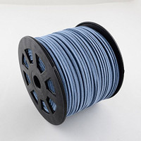 Faux Leather Suede Beading Cord, Slate Blue (50 ft)