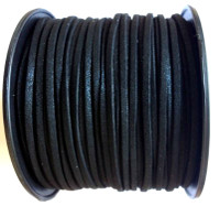 Faux Leather Suede Beading Cord, Metallic Glitter Black (20 feet)