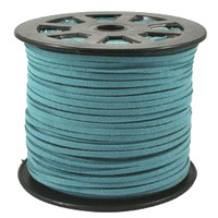 Faux Leather Suede Beading Cord, Turquoise Blue (20 ft)