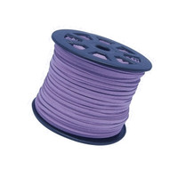 UnCommon Artistry Faux Leather Suede Beading Cord, Lilac (10 ft)