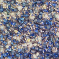Czech Seed Beads 6/0 Crystal Blue Lined (1 Ounce)