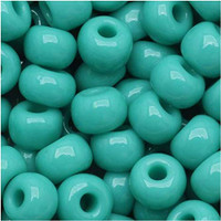 Czech Seed Beads 8/0 Green Turquoise Opaque (1 ounce)