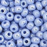 Czech Seed Beads 6/0 Ceylon Light Blue (1 Ounce)