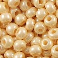 Czech Seed Beads 8/0 Ceylon Eggshell (1 Ounce)