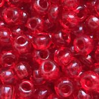 Czech Seed Beads 6/0 Transparent Light Ruby (1 Ounce)