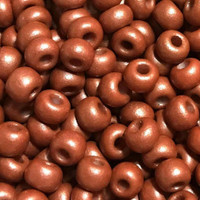 Czech Seed Beads 6/0 Rusty Copper Matte Pearl (1 ounce)