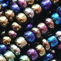Czech Seed Beads 8/0 Black Iris (1 ounce)