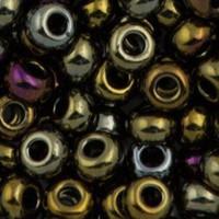 Czech Seed Beads 8/0 Brown Iris (1 ounce)