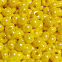 Czech Seed Beads 6/0 Yellow Opaque Luster (1 ounce)